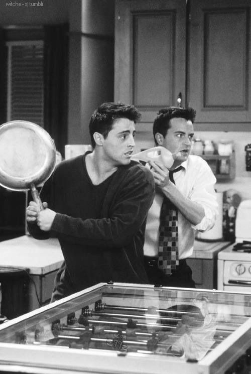 Joey and Chandler pinterest // @ninabubblygum