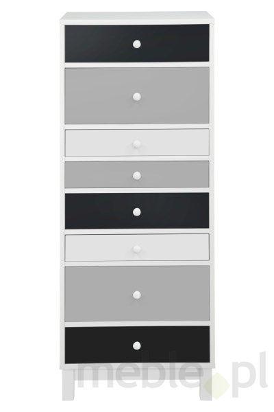 Komoda Sparrow biała, 8 szuflad - Actona (0000064039), Actona - Meble