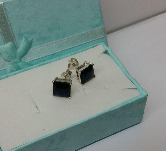 Ohrringe Ohrstecker Silber 925 Kristall blau SO128 von Schmuckbaron