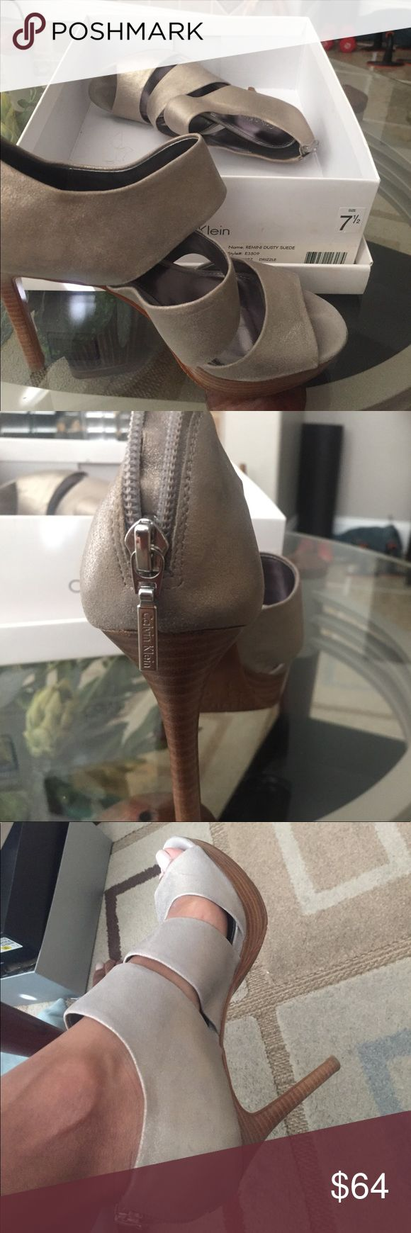Calvin Klein Heels Remini Dusty Suede Heels. Style E3509. 7.5. Well taken care of. Excellent condition. Calvin Klein Shoes Heels