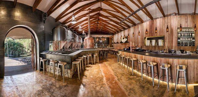 Wagon Trail on Anura Vineyards designed by Inhouse Brand Architects http://inhouse.ws/wagon-trail/ #inhouse #timber #wood #brewery #honest #warm #craftbeer