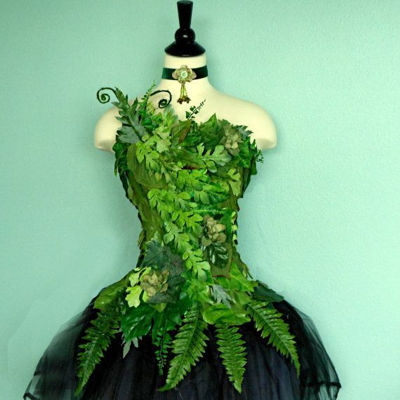 Fairy Costume Corset Woodland Fairy Costume Top by FairyNanaLand, $175.0 I'm thinking a cool twist on a poison ivy: