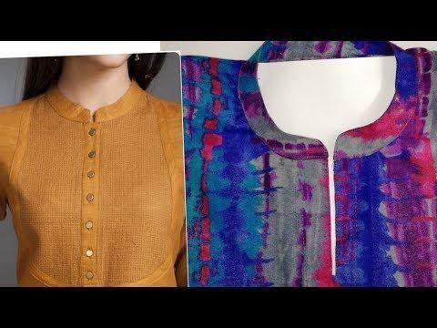 kurti collar neck cutting Simple   Easy Method - Cutting   Stitching  tutorial - YouTube 5b82bcd4e
