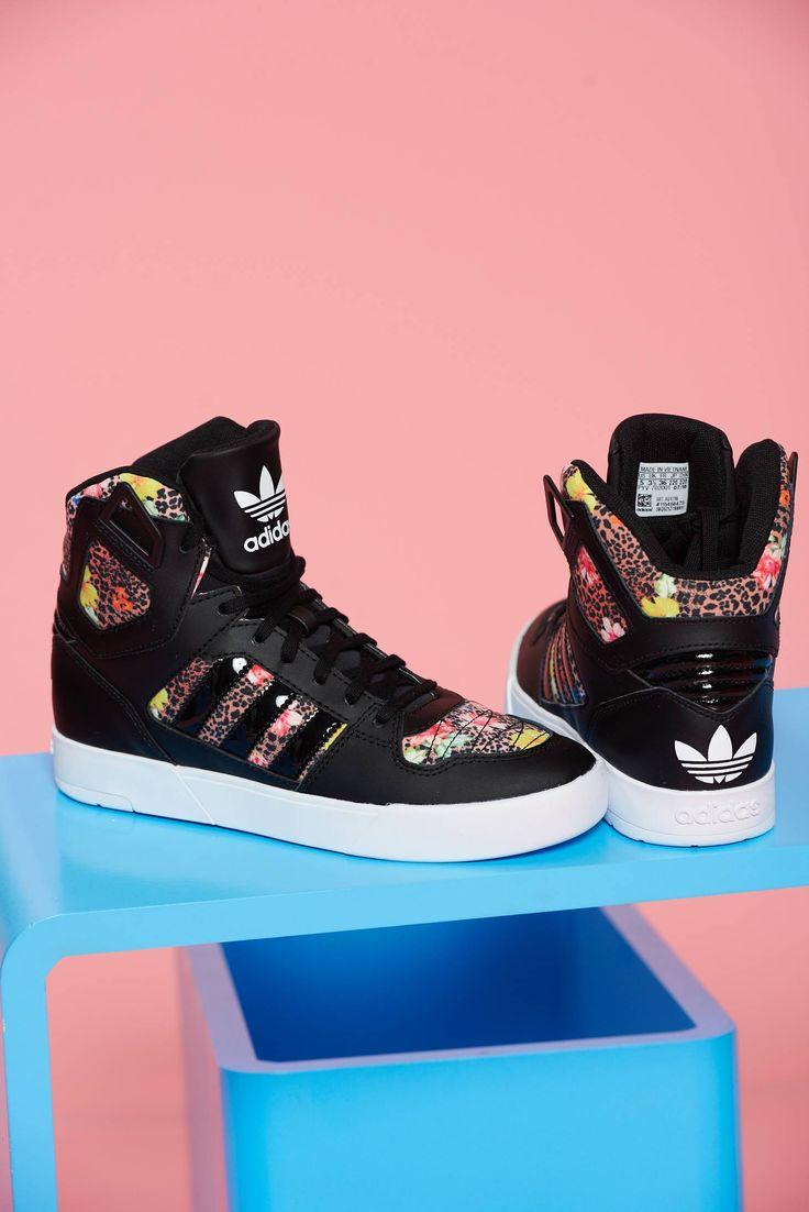 Comanda online, Pantofi sport cu siret Adidas Originals Zestra negru cu imprimeu tip animal print. Articole masurate, calitate garantata!