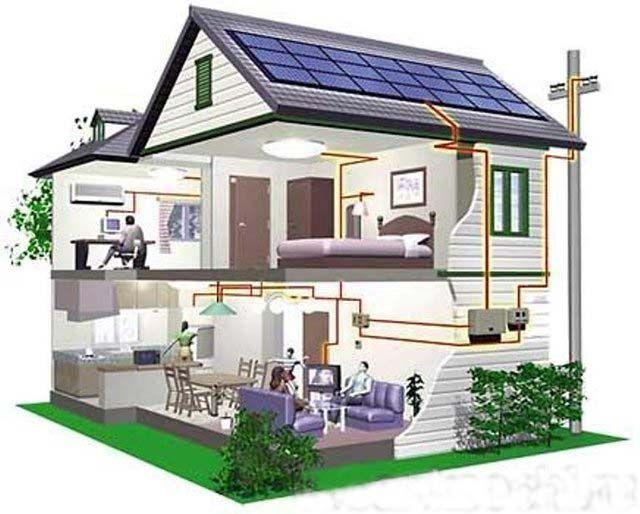 электрическое снабжение двухэтажного дома