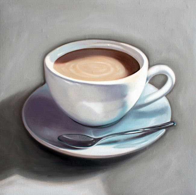 Coffee cup oil painting images for Coffee painting ideas