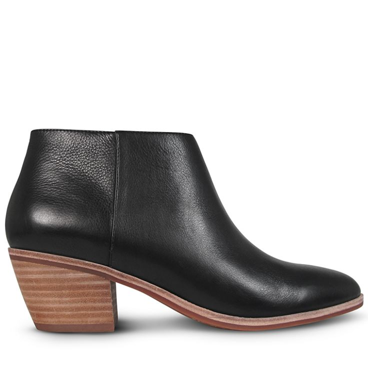 The most perfect ankle boots for day to day, Isley is crafted from classic black leather with a comfortable 6cm* block heel. With a flattering low slung top line and contrasting sole, Isley can be paired with denim, leather or dresses for the ultimate wee