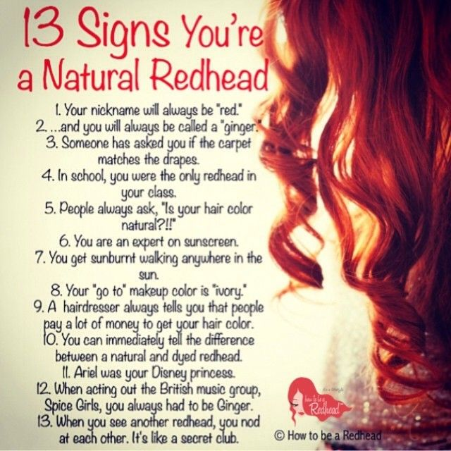 13 Signs You're A Natural #Redhead