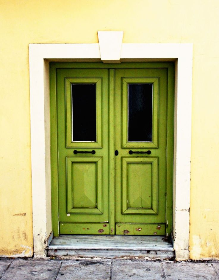 Green Door Print - Athens Greece Travel Photography - Green Door in Athens. Original photograph of lime green door in Athens, Greece. Rustic and yet modern photography. Fresh color. Very mediterranean. Print is available in a variety of standard sizes and finishes. Sold unframed and does not include mat.
