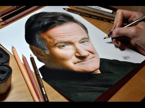 Drawing Robin Williams - YouTube