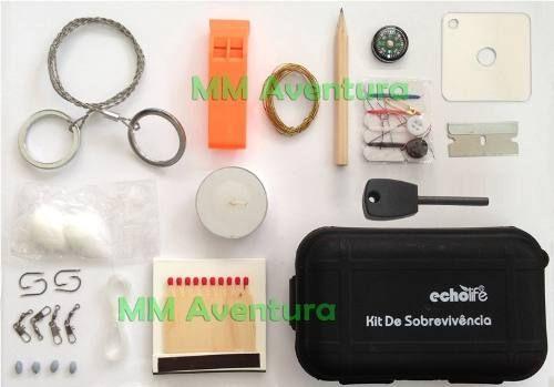 Kit De Sobrevivência Echolife Completo Pederneira Case Pesca - R$ 69,90 no MercadoLivre