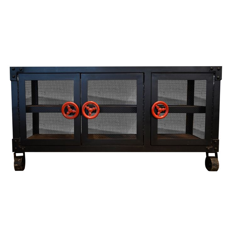 TV Console F - Metal. Industrial inspired TV Console.