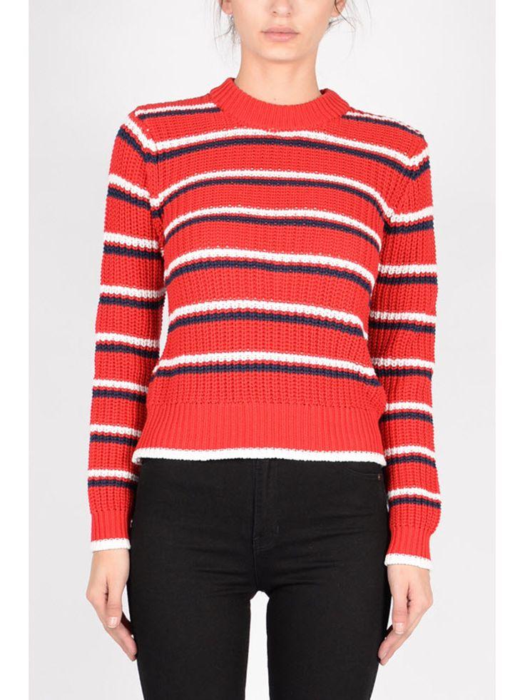 ROLLAS - Saturday Stripe Sweater Red
