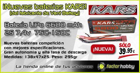 BATERÍAS KARS, las mejores baterías Lipo del mercado ¡a un precio inmejorable! #BateríasLipo►►https://www.factorhobby.com/baterias.html  #lipobattery #Lipo6600 #FelizMiercoles #HappyWednesday #rccar #Lipo #toy #RC #buggy #radiocontrol