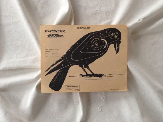 Target practice crow shooters target by yosalvovendo on Etsy, $3.00
