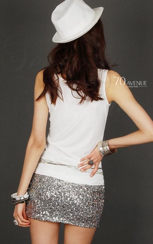 セクシー スパンコール ミニスカート 「70AVENUE」 AN203523031 :AN203523031:レディース 婦人服の ENVYLOOK - 通販 - Yahoo!ショッピング