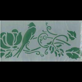 stencil uccello su fiore