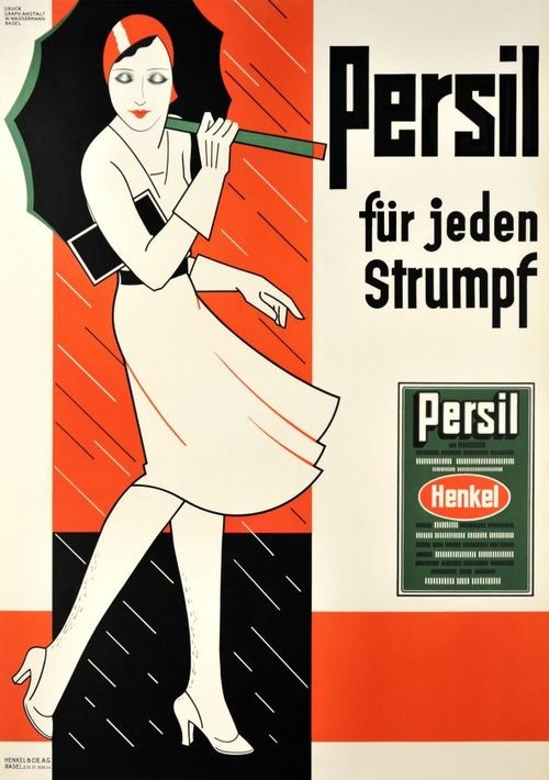 Persil laundry detergent ad By Handschin Hans Johannes 1930