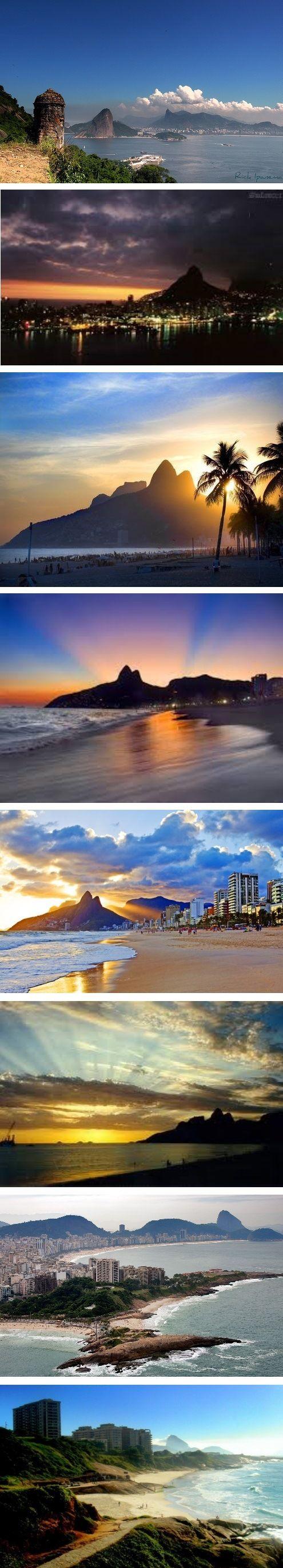 ~Sunset over Rio de Janeiro, Brazil   The House of Beccaria
