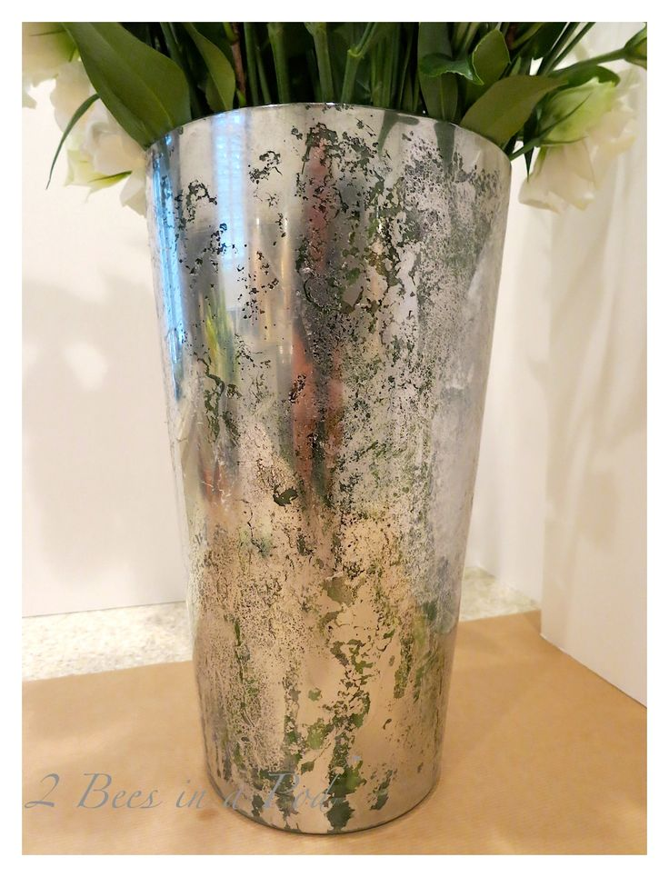 diy mercury glass vases mercury glass looking glass. Black Bedroom Furniture Sets. Home Design Ideas