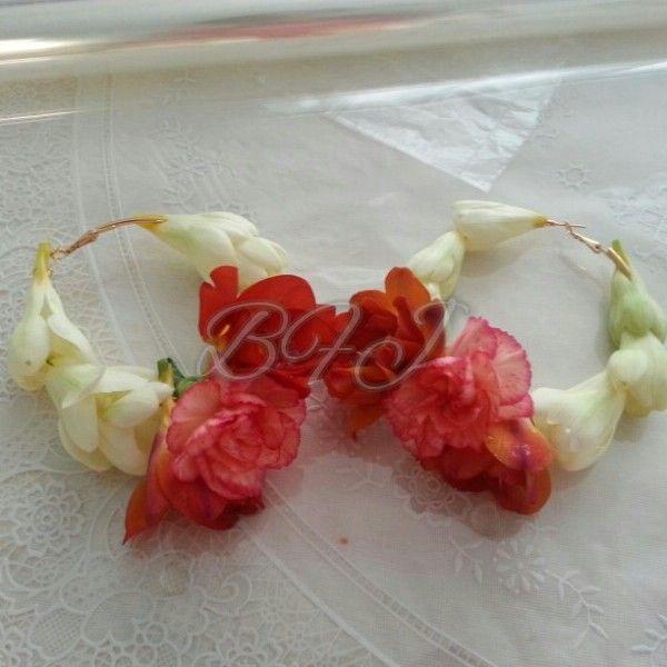 fresh carnation and orange freeisa earrings by brida