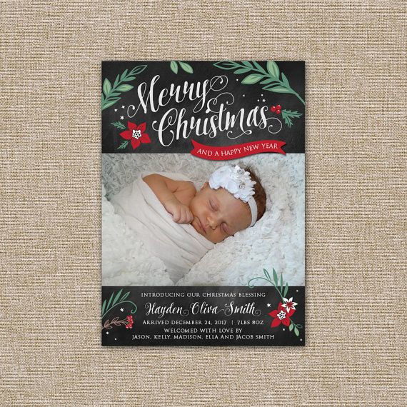 1000 ideas about Holiday Birth Announcement – Madison Birth Announcements