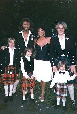 Barry Gibb and his family, Linda, Stephen, Ashley, Travis and Michael, before Ali came along.