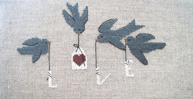 birds with love - luli - cross stitch