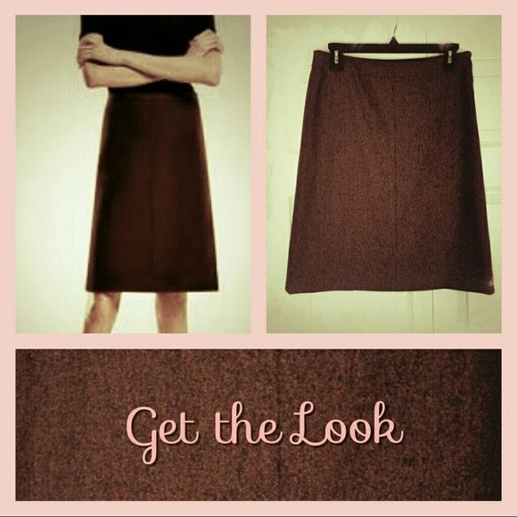 "THEORY MIDI A-LINE SKIRT Perfect  minimalist!     Designer: Theory   Style:  Side zip/hook a-line skirt Color:  Med coffee brown Size: 6, waist 29"", hips 37"" length 21"" Fabric: 96% Laine Wool, 4% Lycra CONDITION: Excellent , very gently worn.  Well stored & cared for.        . Theory Skirts A-Line or Full"
