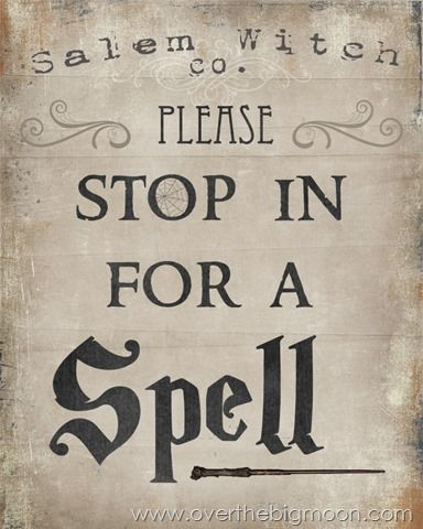 Please Stop in for Spell – Free Halloween Printable (Over The Big Moon)