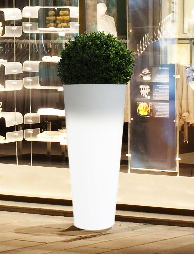 LED Cylinder 70cm Garden Planter Outdoor & Indoor Lighting. Buy now at http://www.statuesandsculptures.co.uk/led-cylinder-70cm-garden-planter-outdoor-indoor-lighting