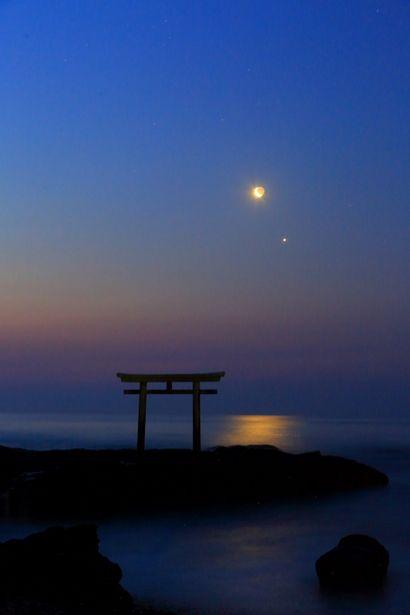 Kamiiso torii at Oarai Isosaki Shrine, Ibaraki, Japan