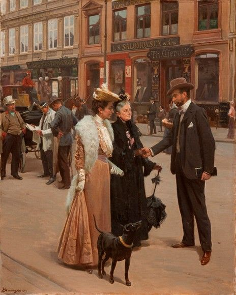 1906 by Erik Ludvig Henningsen (Danish 1855 – 1930)....elegant days....for those who could afford it, at least.....
