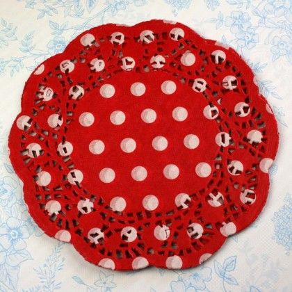 Red spot doilies $12.95 for 72