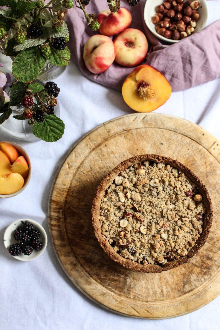 ... black and blue nectarine rye flour hazelnut pie ...