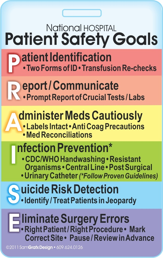 Pt. Safety Goals Badge | Nursing | Pinterest