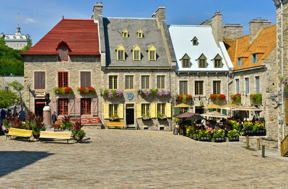 Quebec City, Canada - Founded along the St. Lawrence River by the 17th-century French explorer Samuel de Champlain, Old Quebec, with its preserved ramparts and citadel, is perhaps the New World's best example of a fortified city.