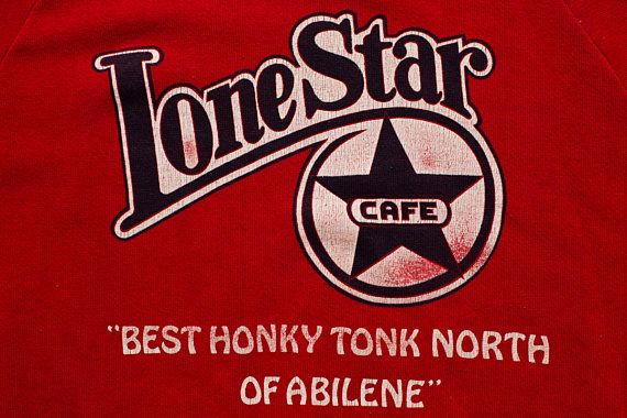 Lone Star Cafe Raglan Sweatshirt, New York City NY Restaurant, Vintage 80s, Best Honky Tonk North of Abeline, Willie Nelson, Roy Orbison