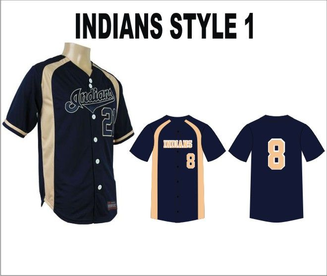 CUSTOM INDIANS BASEBALL UNIFORMS WITH TACKLE TWILL NUMBERS , High quality product. PayPal Accepted