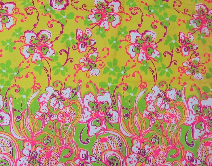Lilly Pulitzer  Southermost Point  Cotton Dobby Fabric 1 Yard #LillyPulitzer