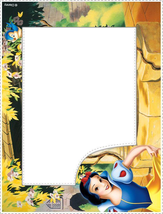 Snow White Photo Frames 02 Disney Autograph Book pages