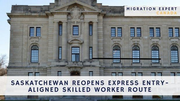 Saskatchewan reopens Express Entry-aligned Skilled Worker route