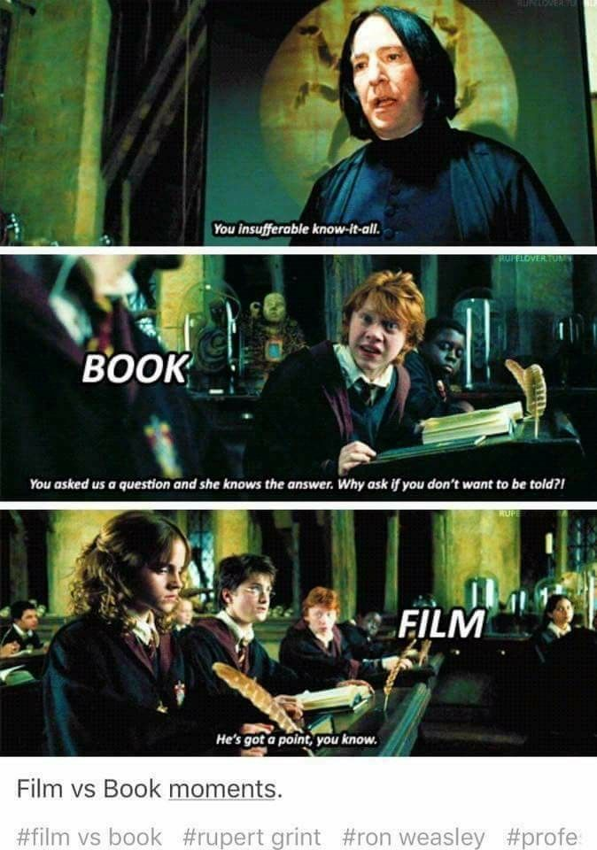 Movie Ron Wasn T As Wonderful As Book Ron Whom I Fell In Love With Harry Potter Scene Harry Potter More Harry Potter Memes