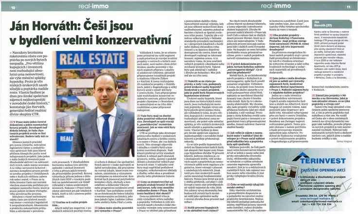 Přečtěte si profilový rozhovor s Jánem Horváthem, CEO real estate společnosti CTR group, který vyšel v listopadovém vydání realitní přílohy deníku E15. http://www.ctrgroup.cz/rozhovor-jan-horvath  Lesen Sie das Interview mit Ján Horváth, CEO für den Bereich real estate der CTR group, das in der November-Ausgabe der Immobilien-Beilage der Tageszeitung E15 erschienen ist. http://www.ctrgroup.cz/rozhovor-jan-horvath