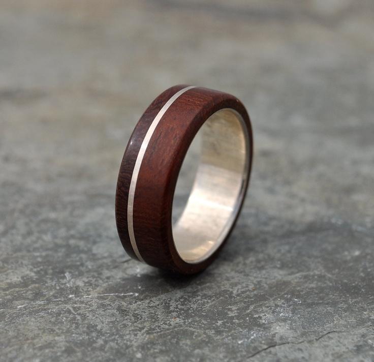 Asi Guapinol Wood Ring - sustainable wedding ring in rosewood. $210.00, via Etsy.