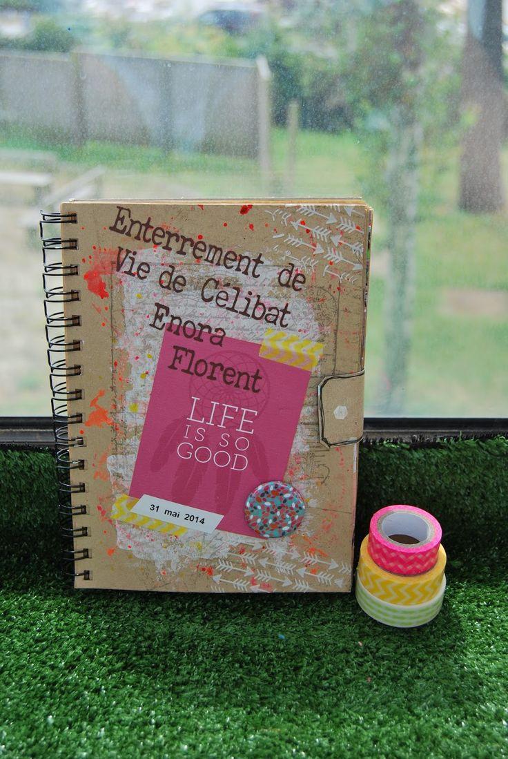 Album EVJF Enterrement de vie de jeune fille de célibat ... carnet qui retrace la journée souvenir