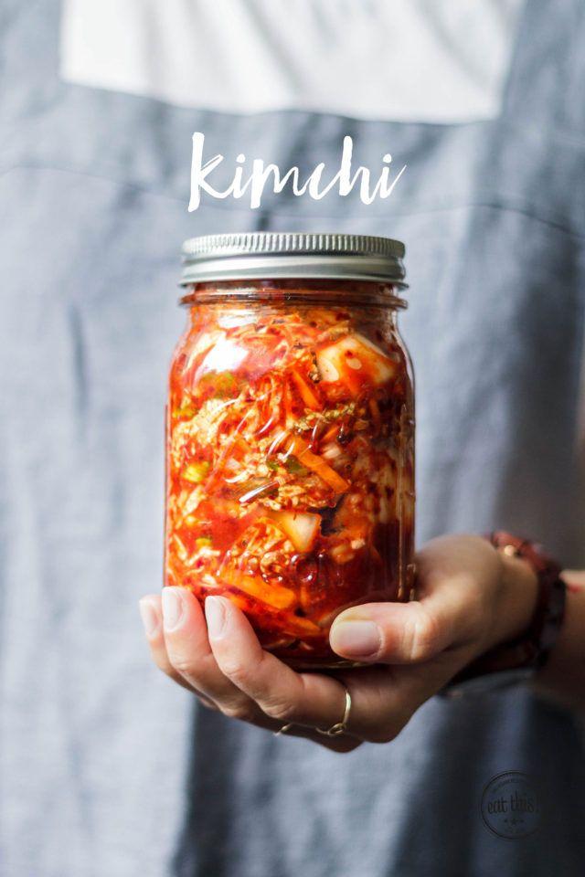 Getting my kimchi on! Mmm!