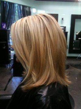 blonde highlights mid length hair - Google Search