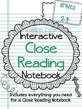 Interactive Close Reading Notebook ~Common Core Aligned~