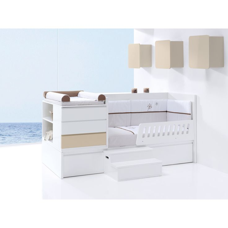 The Modular convertible crib can be modified when your child reaches the toddler stage! Bed guards and stairs are optional but can be purchased separately. Free UK delivery available! http://www.casabebe.co.uk/modular/